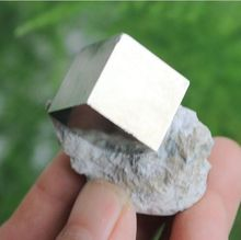 Gold PYRITE Cube in Matrix Peruvian Crystal Point FOOLS GOLD Peru Awesome