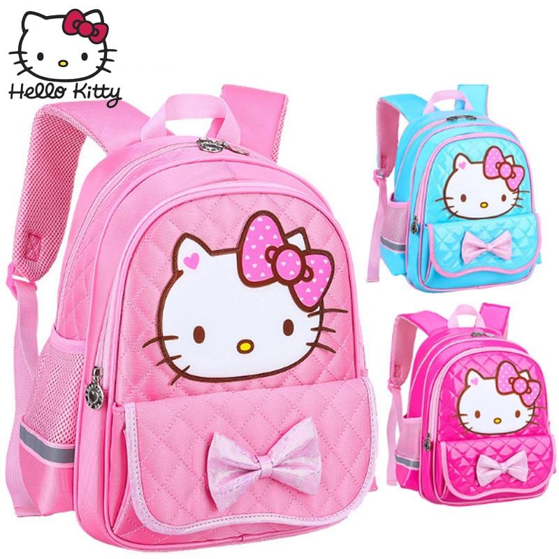 Hello Kitty kindergarten Bag Cute Toddler Kids Waterproof Cartoon Backpack Children Boy Girl Schoolbag Shoulder Plush Student