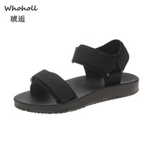 Whoholl Brand Women Sandals 2019 Summer Casual Shoes Woman Hook & Loop Platform Beach Zapatos Mujer 35-40