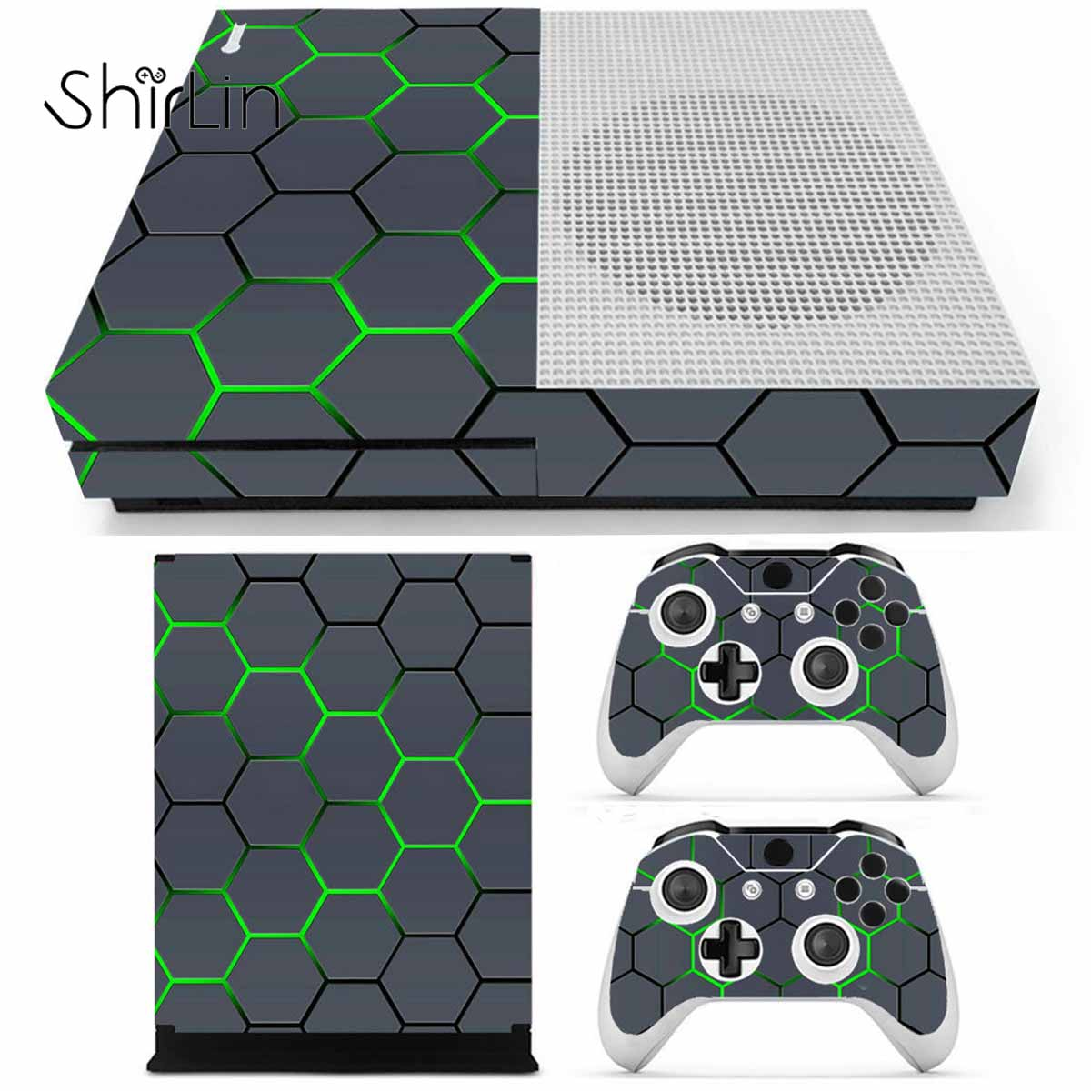 Vinyl Sticker Game Console Skin Sticker Cover Protector For XBOX for ONE S Slim Console Kinect and 2 Controller SkinVinyl Sticker Game Console Skin Sticker Cover Protector For XBOX for ONE S Slim Console Kinect and 2 Controller Skin