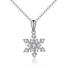 2016 New Fashion Snowflake Zircon Necklaces & Pendants Free Shipping