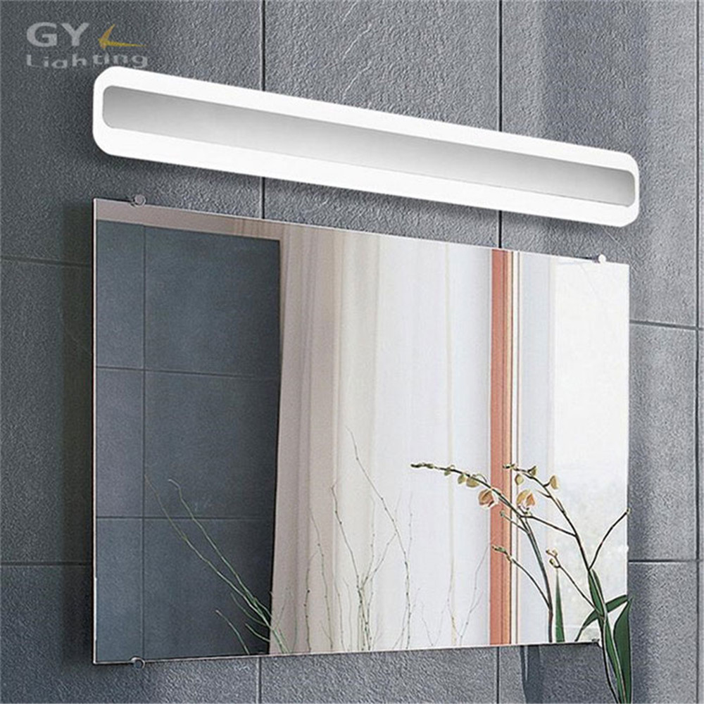 Home decor wall lamp l40 50 60 70cm led mirror lamp for for Miroir 50 x 70 cm