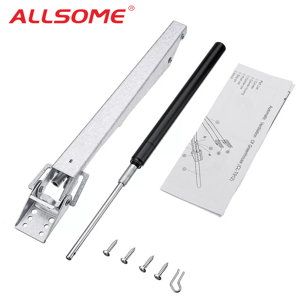 ALLSOME Automatic Garden Greenhouse Window Opener Solar Heat Sensitive Window Opener Invernadero Automatischer Fensteroffner