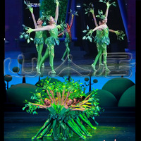 Chinese Wind Dance Costume Little Tree Dance Dress Performance Costume Child Leaf Costume Collective Stage Performance