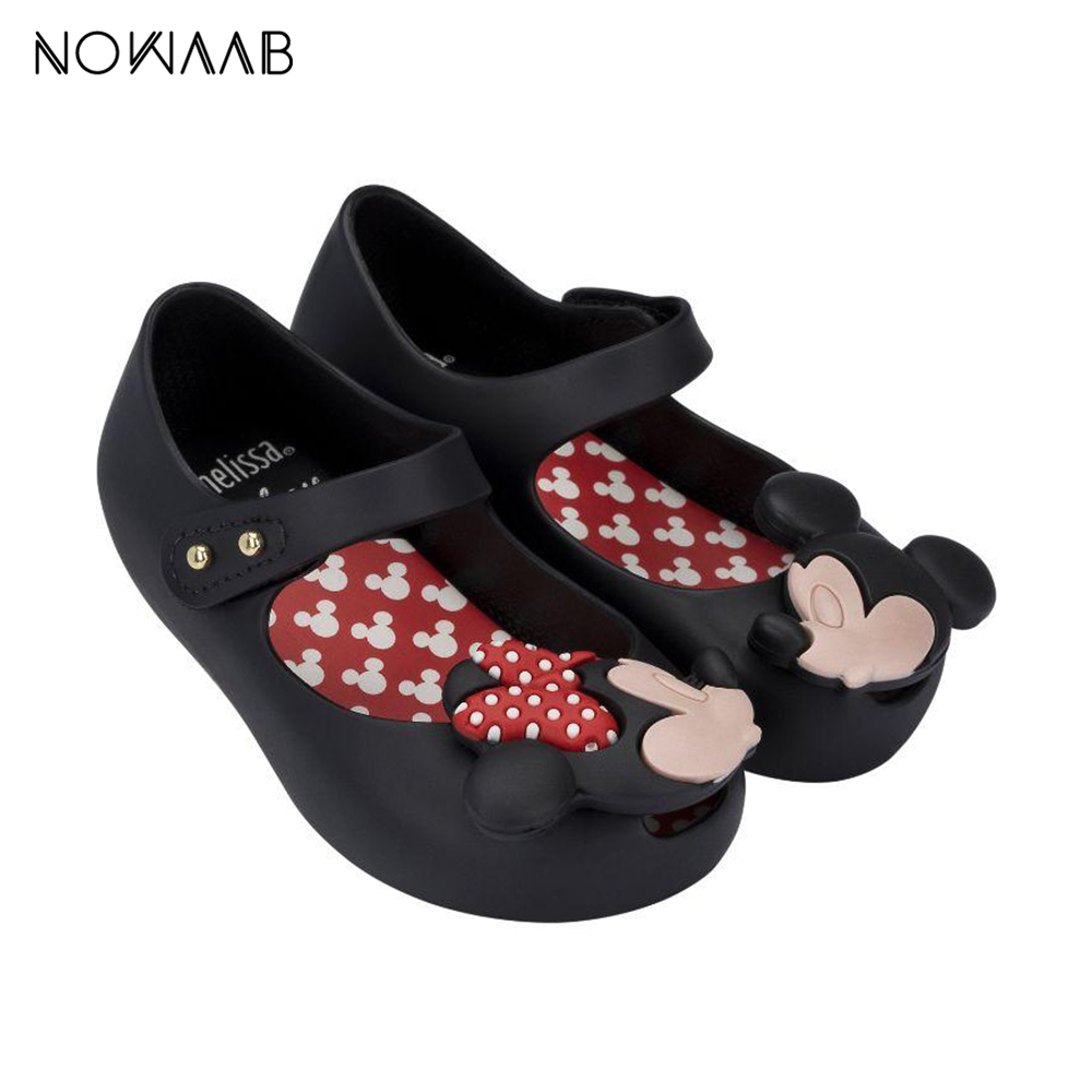 Mini Melissa   2019 New Summer Cartoon Girl Jelly Shoes Girls Non-slip Sandals Melissa Kids Beach Sandal Toddler