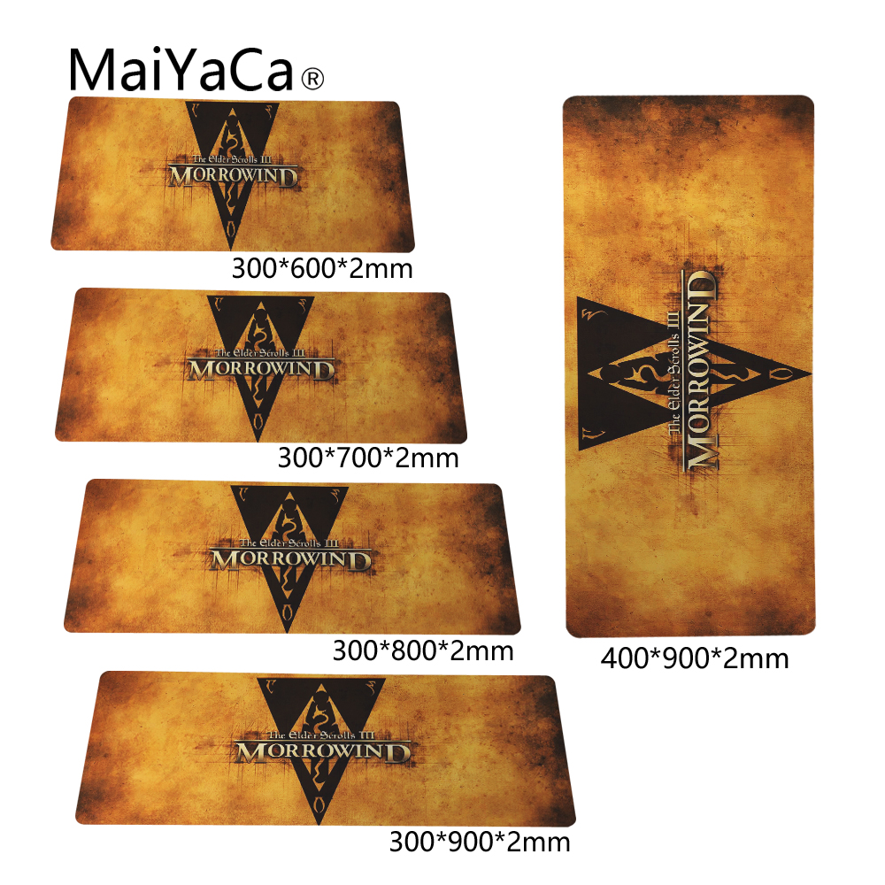 MaiYaCa Morrowind Logo Teams 400x900x2mm Breach Anti-slip Mouse Pad Gamer Large Professional Gaming Mousepad Grande Keyboard