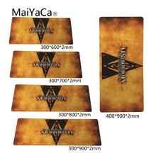 MaiYaCa Morrowind logo Teams 400x900x2mm Breach Anti-slip Mouse Pad Gamer Large Professional Gaming Mousepad Grande Keyboard