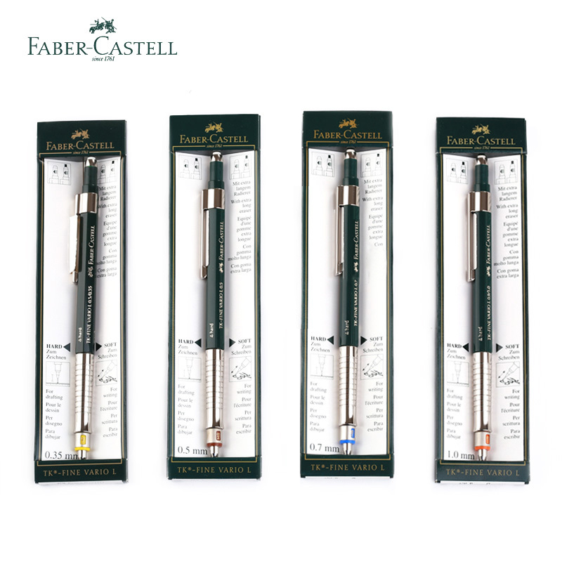 Germany Faber Castell Mechanical Pencils Hard/Soft Mode 0.35/0.5/0.7/1.0 Mm Graphic Design Stationery