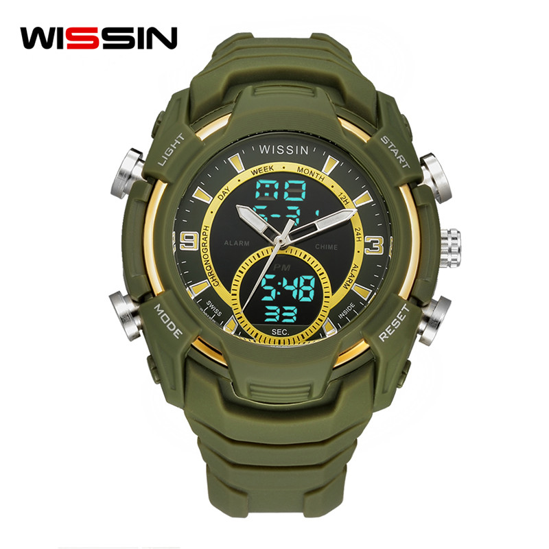 WISSIN men watch top brand luxury Sport Mens Watches Clock Male LED relogio Digital Waterproof Military man quartz wristwatches sinobi men s top luxury brand sport watches men led digital waterproof stainess steel quartz watch man clock relogio masculino
