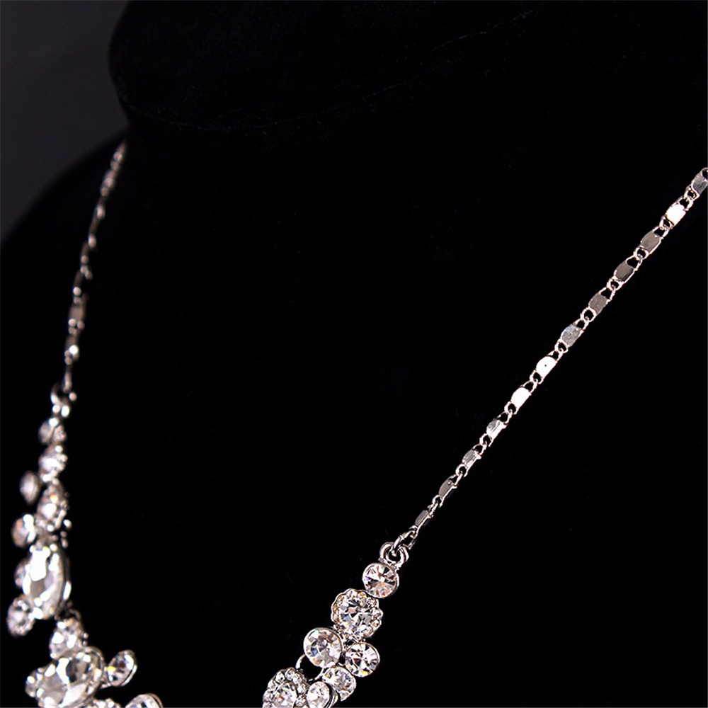 7-Exquisite Statement Bridal Necklaces Women White Gold 585 Plated CZ Diamond Jewelry Vintage Collier Femme Colar Collares ND003