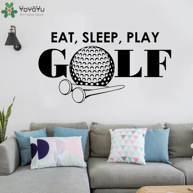 yoyoyu wall decal eat sleep play golf quotes stickers sports