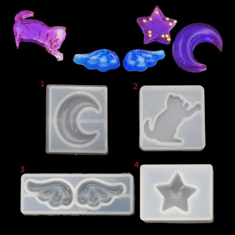 Moon Star Cat Wing Shape Jewelry Silicone Mold DIY Craft Tool Jewelry Making Tool NewMoon Star Cat Wing Shape Jewelry Silicone Mold DIY Craft Tool Jewelry Making Tool New