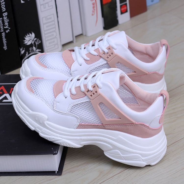 Mhysa 2020 Spring New Wedge Fashion White Shoes Female Platform Ladies Casual Shoes Comfortable Breathable Mesh Sneakers L376