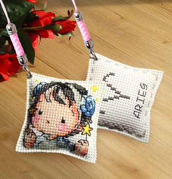 DIY Craft Stich Cross Stitch Phone Accessories Girls Plastic Fabric Needlework Embroidery Crafts Counted Cross-Stitching Kit embroidery