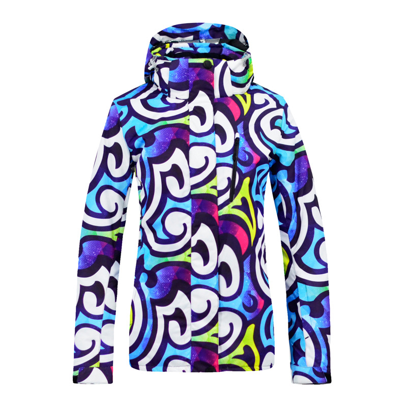 18 New Winter Snowboard Jacket Women Hooded Skiing Suit Windproof Warm Thick Female Cotton Hiking Snow Jacket18 New Winter Snowboard Jacket Women Hooded Skiing Suit Windproof Warm Thick Female Cotton Hiking Snow Jacket