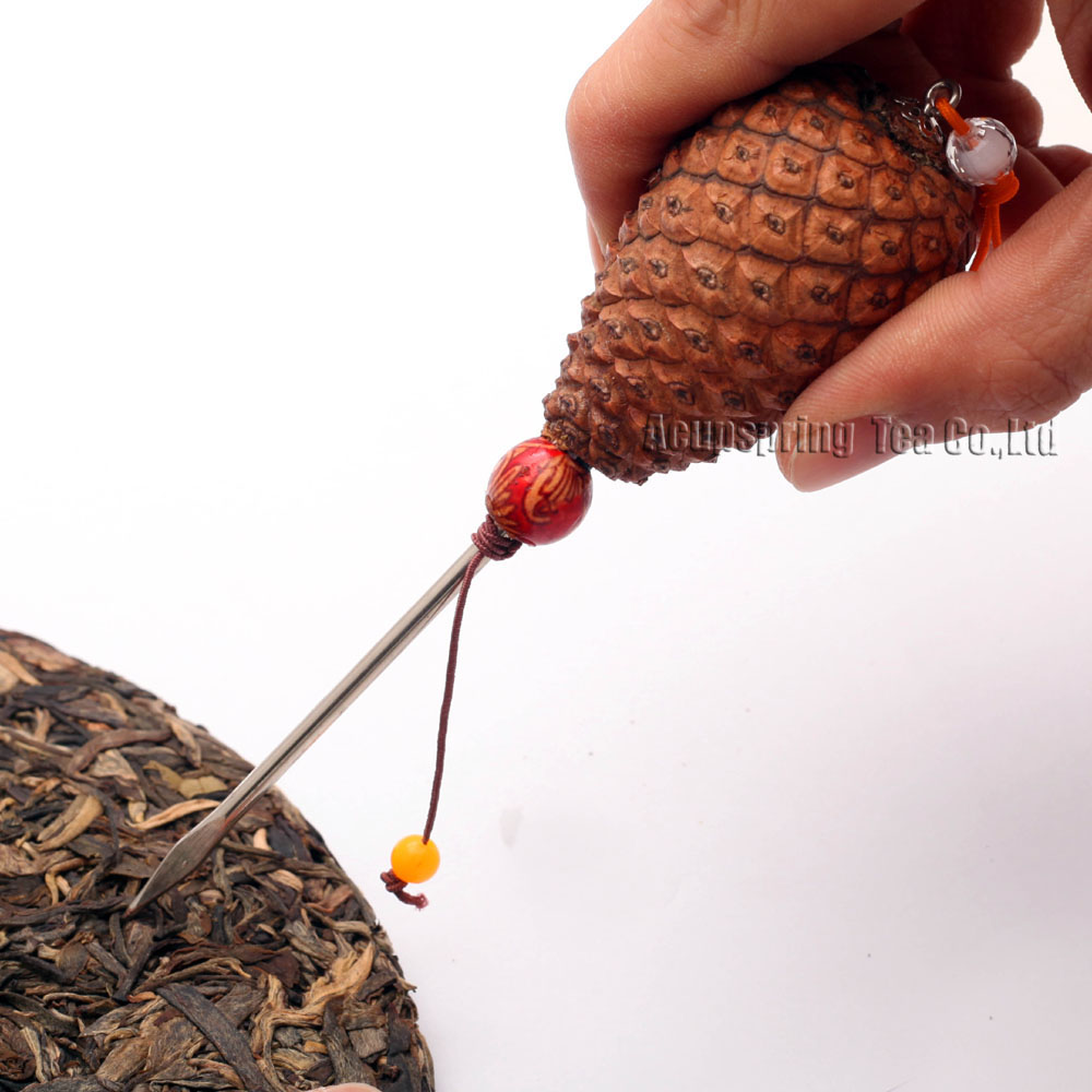 Unique Tea Needle/Knife/Cutter,For making Ripe/Raw Puerh tea,Puer tea accessories,pinecone arts,with Secret gifts