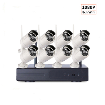 2MP 1080P CCTV System 8ch HD Wireless NVR kit 1TB HDD Outdoor IR Night Vision IP Wifi Camera Security System Surveillance zosi 8ch h 265 1080p hd wireless wifi nvr kit indoor outdoor waterproof ip66 night vision security ip camera wifi cctv system