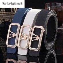 Hot High quality Genuine leather belt women Men European Smooth buckle jeans belt Ladies' trousers designer belt men luxury belt