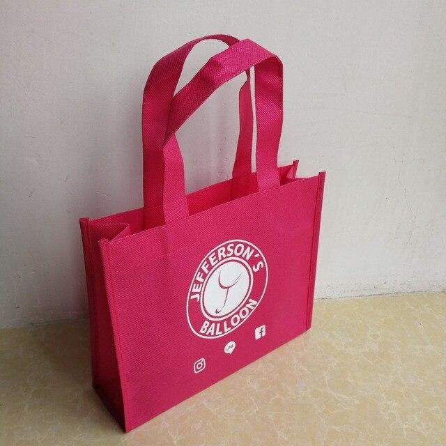 Venta al por mayor 500 unids/lote bolsas de compras no tejidas reutilizables respetuosas con el medio ambiente personalizadas con el logotipo de su empresa/tienda envío gratis por TNT...