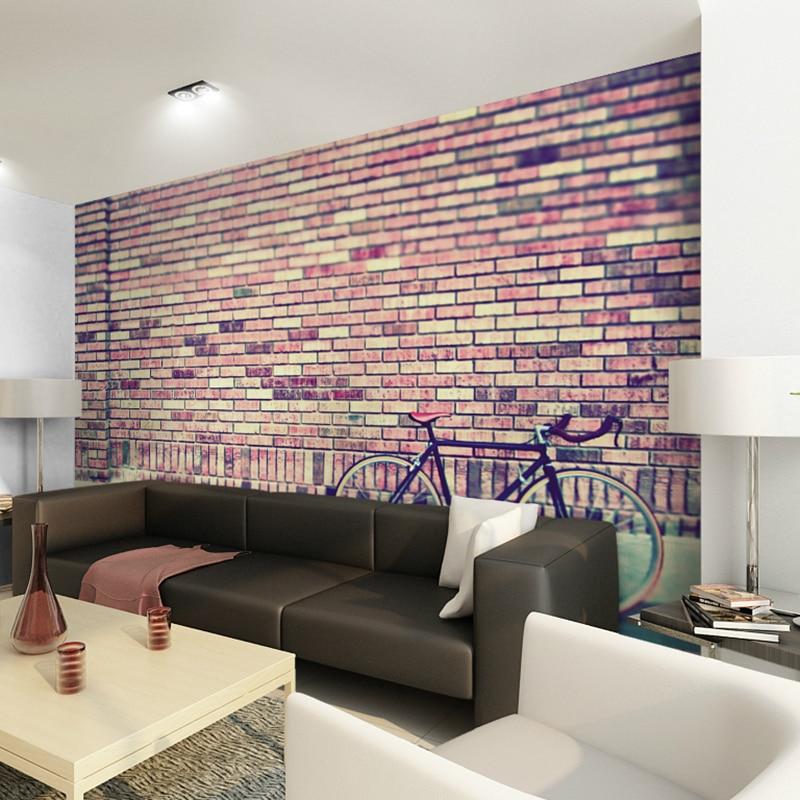 Custom Size Photo 3d Brick Wall Mural Living Room Tv Bathroom