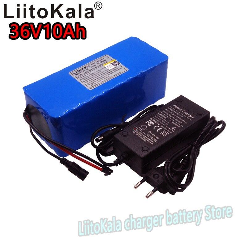 LiitoKala 36v10Ah vélo électrique au lithium ion batterie 18650 8000 mah 10S4P grande capacité bms 500 w contre les surintensités