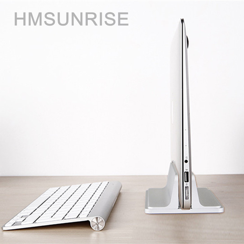 Hmsunrise Aluminum Alloy Bracket for apple MacBook Vertical Storage Stand for Laptop holder Support notebook As bookshelf for pc up 10 aluminum alloy abs holder stand bracket for laptop tablet pc black silver