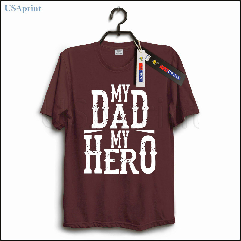 Usaprint Fathers Day Dad T Shirt My Dad My Hero Design T