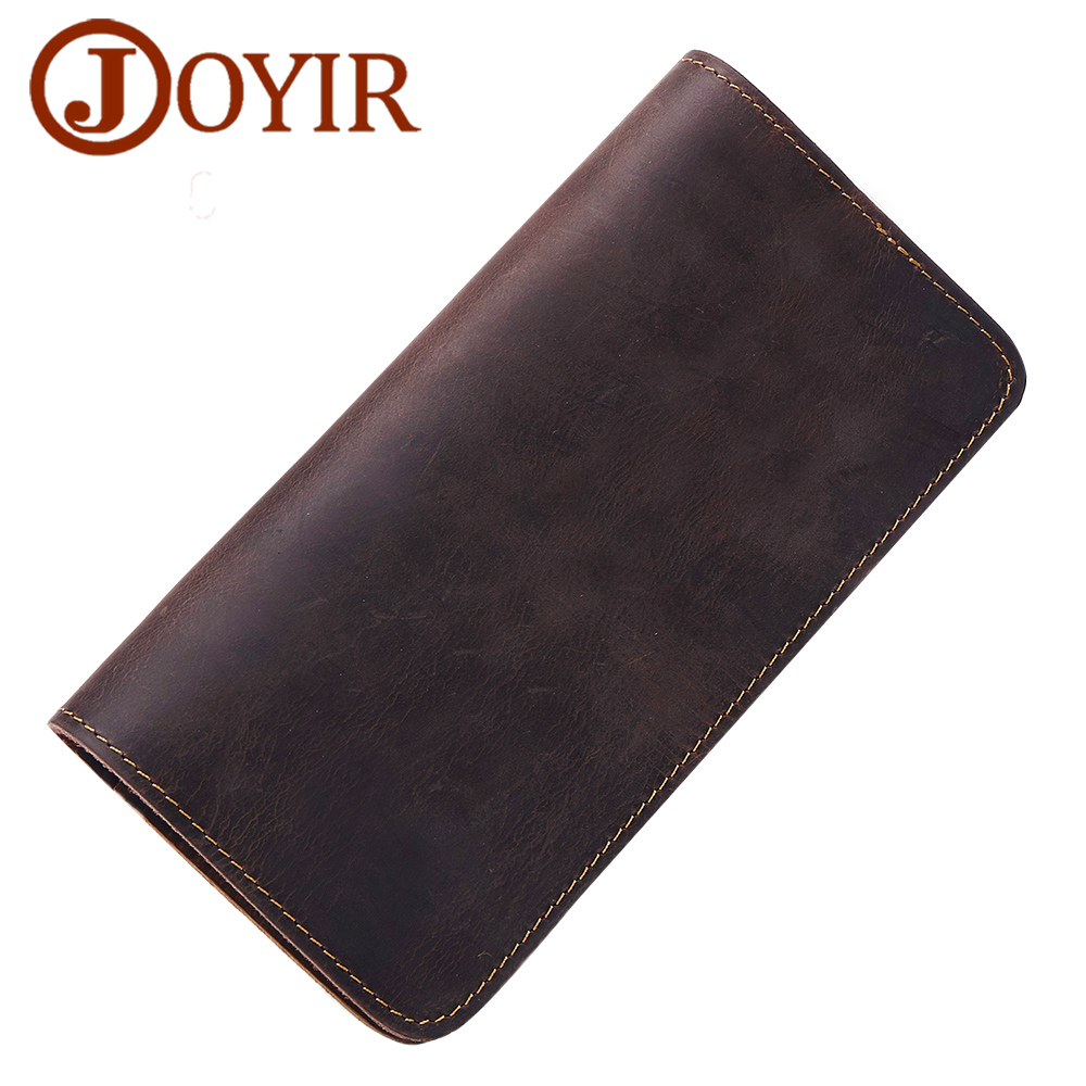 JOYIR Famous Brand Wallets Men Genuine Leather Wallet Purse Long Hasp Zipper Cowhide Wallet Clutch Bag Card Holder Male Purse hot genuine leather men wallets long zipper coin purse 2018 luxury brand vintage male clutch cowhide leather wallet card holder