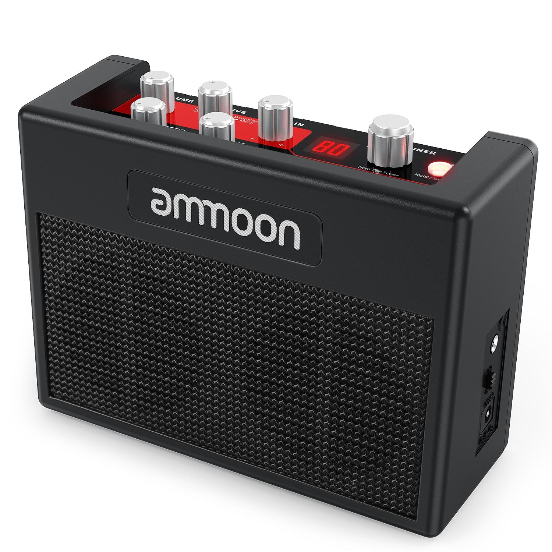 Ammoon POCKAMP Gitarre Verstärker Eingebaute Multi-effekte 80 Trommel Rhythmen Unterstützung Tuner Tap Tempo Funktion mit Power Adapter