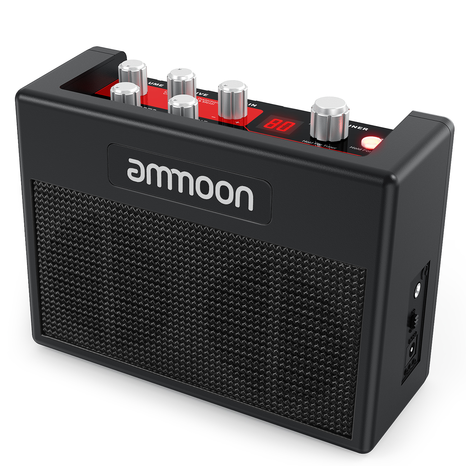 ammoon POCKAMP Guitar Amplifier Built-in Multi-effects 80 Drum Rhythms Support Tuner Tap Tempo Function with Power Adapterammoon POCKAMP Guitar Amplifier Built-in Multi-effects 80 Drum Rhythms Support Tuner Tap Tempo Function with Power Adapter