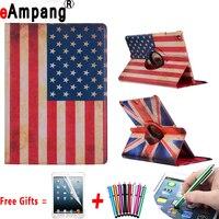 米国と英国旗スマートケースipad用プロ10.5 puレザー360回転タブレットアップルipadプロ10.5ケースカバースタンド