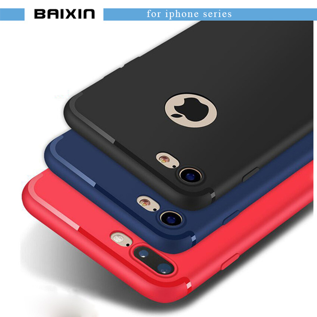 baixin For iPhone 6  6s 7 plus Cases Soft TPU Silicone Case 6plus 6s plus 7 plus Full Cover Luxury Coque Phone Back Cases Cover
