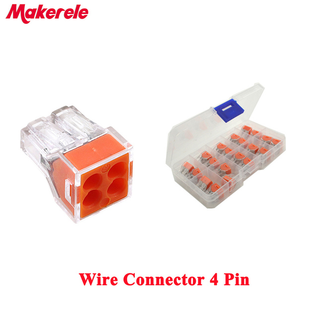 20PCS Quick Wire Connector 4pin Cable Terminal Block Connector ...