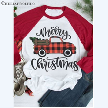 85cdecc834be2 Christmas Tree Shirt Plaid Car Peace On Earth Letter Ladies Kawaii Clothes  3 4 Sleeve