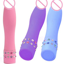 Good Quality Multi Speed Vibrating Bullet Waterproof Rhinestone Vibrator Stimulating G-point Mini Massage Sex Toys For Women