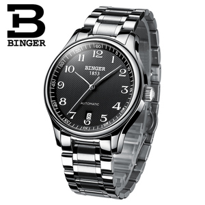 Image 2 - New BINGER Brand Luxury Automatic Mechanical Men Watch Sapphire Watches Male Military Relogio Waterproof Mens Watches BG 0379 2
