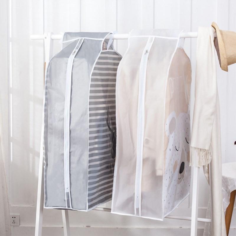 Cubierta antipolvo para ropa bolsa ropa colgante tridimensional para hogar bolsa colgante guardarropa armario PEVA cubierta protectora traje camisa almacenamiento abrigos-toalla estilo guirnalda
