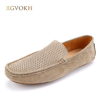 New 2017 Handmade Genuine Leather Men Loafers Fashion Men Driving Shoes Casual Top Quality Men Flats