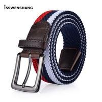 High Quality Elastic Stretch Woven Belts Male Female Belts Luxury Classic Canvas Belt Of Women