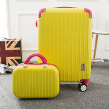 Wholesale!Women lovely travel luggage bags on universal wheels,14 20inch pink luggage sets