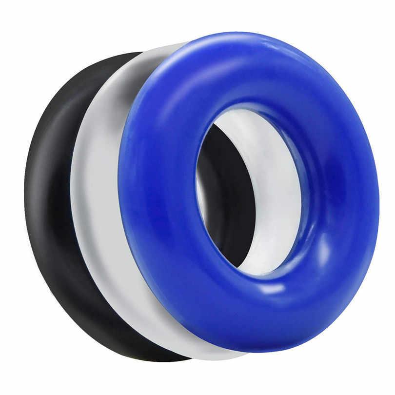 Anneau de retard de temps en Silicone souple 3 pièces anneau en Silicone étanche jouets pour hommes jeux pour adultes