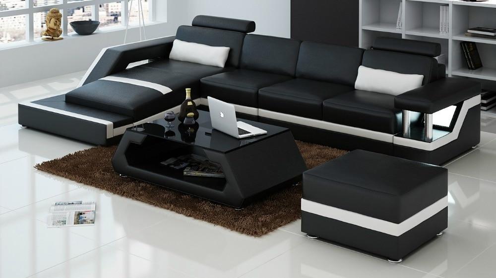 Corner Sofa Bedmodern Set Living Room Furnitureleather Sectional H2203