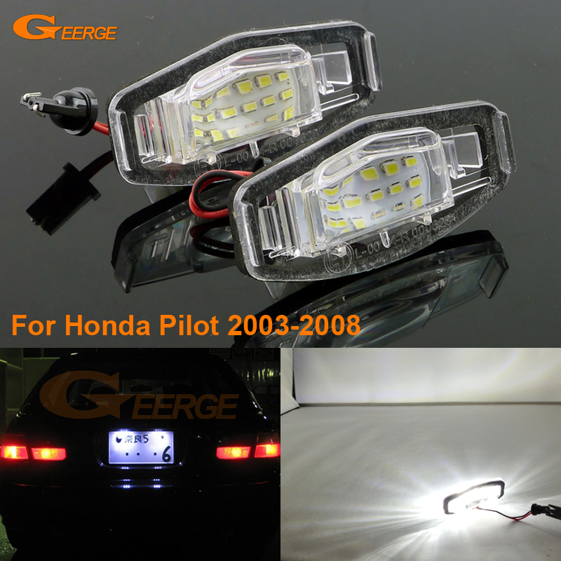For <font><b>Honda</b></font> <font><b>Pilot</b></font> <font><b>2003</b></font>-<font><b>2008</b></font> Excellent Ultra bright 3528 Led License plate lamp light lamp No OBC error
