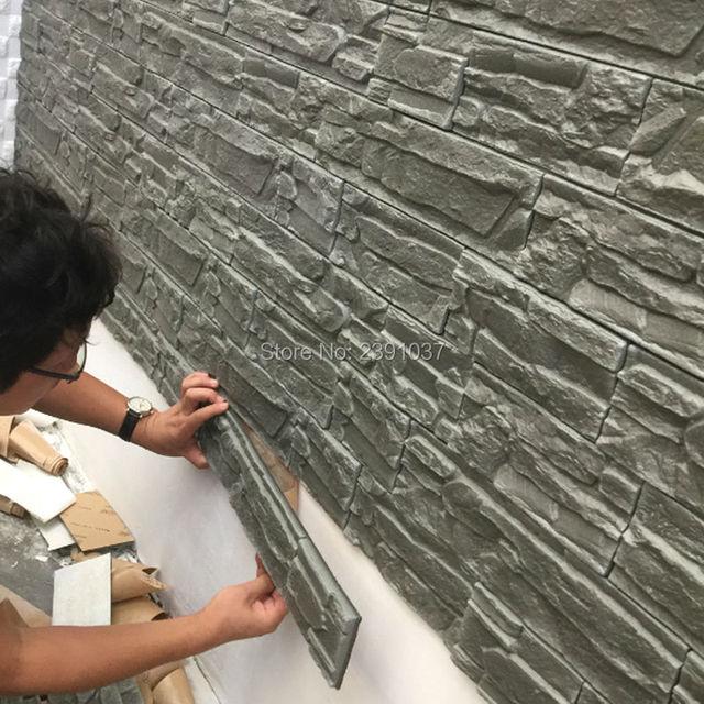 12pcs 70*38cm New PE Foam 3D 3d Wall Panels Flexiable Brick 3d Wall Panel