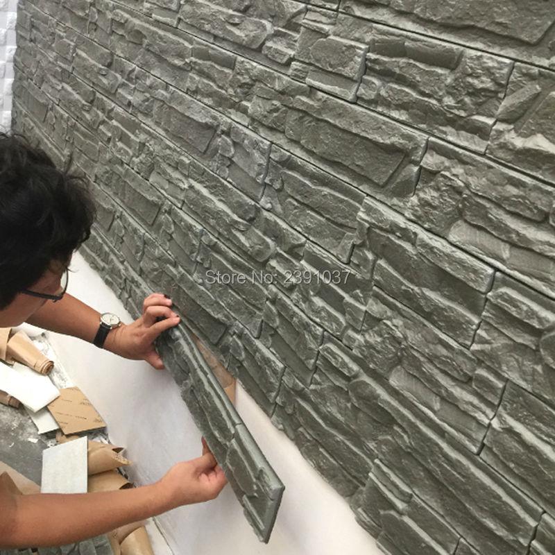 12pcs 71*39cm New PE Foam 3D 3d Wall Panels Flexiable Brick 3d Wall Panel