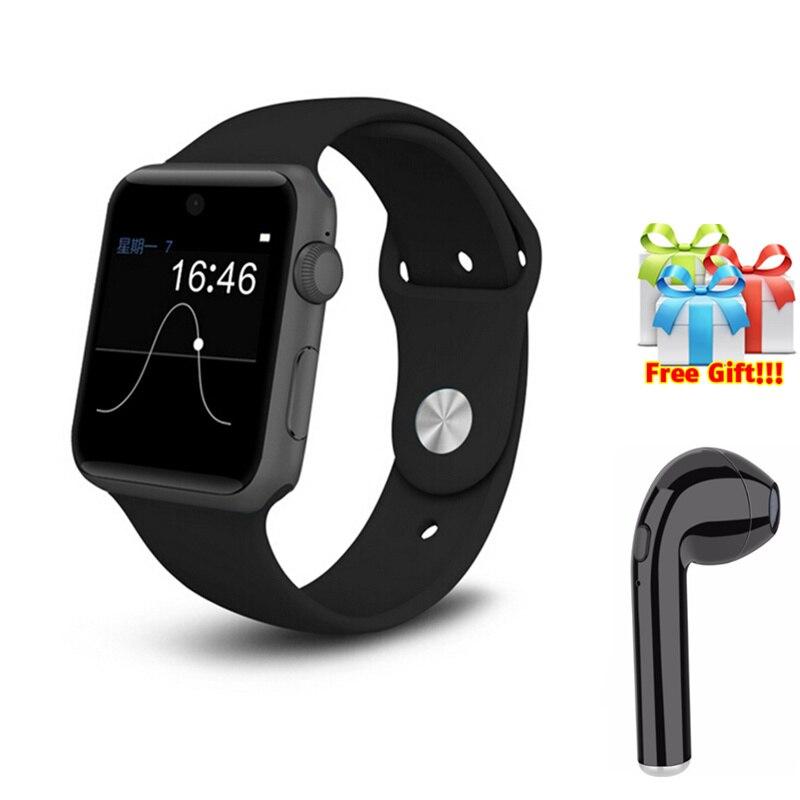 DM09 PK GV68 dm09 plus smartwatch pour apple iPhone7 8 X montre-bracelet pour homme femme avec sim emplacement pour cartes + livraison casque sans fil