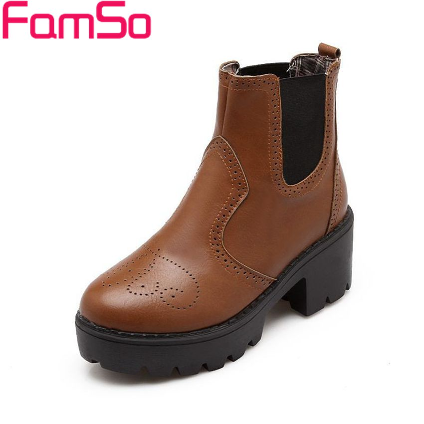 Plus Size34 43 2016 New Sexy font b Women b font Boots Solid Waterproof Autumn High