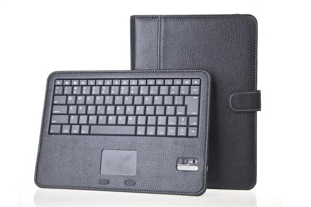 10pcs/lot Wireless Bluetooth keyboard leather cover case for Samsung Galaxy tablet note N8000 10.1,Touch pad free shipping DHL