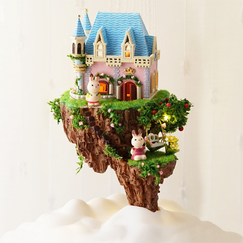 Casa de Muñecas Kit de Muebles Diy Miniatura Cubierta de Polvo 3D - Muñecas y accesorios - foto 3