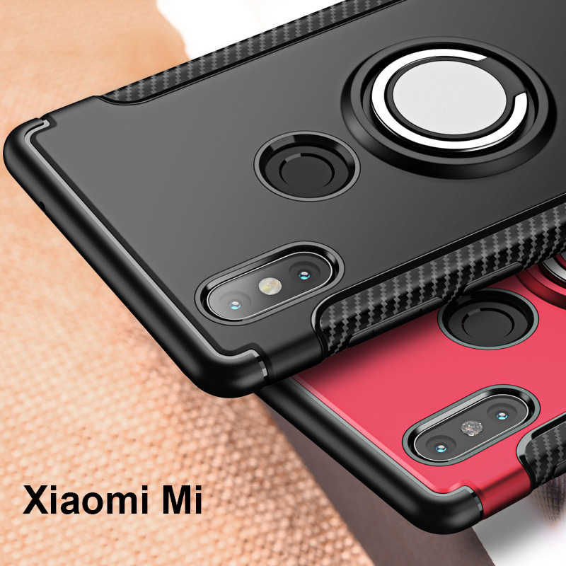 Finger Ring 360 Full Protect Case Xiaomi Mi Mix 2S Mix 2 / Xiaomi Mi Note 3 Max 3 A1 A2 Back Cover Silicone Case Xiaomi Mi8 Mi9T